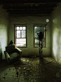250116 by Darkology. Scary Photography, Conceptual Photography, Cubist Art, Macabre Art, Dark Art Drawings, Sad Art, Matte Painting, Creepy Art, Monster Art