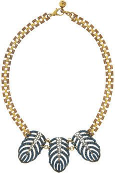 Lulu Frost Gold-tone crystal necklace    $285.00
