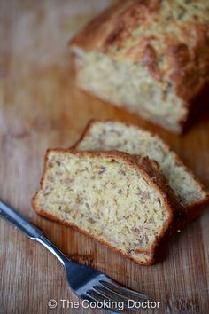 Healthy Banana Bread with greek yogurt. serve for breakfast or a snack. Yum! thecookingdoctor.co.uk 03/2014