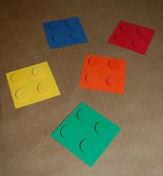 Lego decorations - great value!! Construction Theme, Construction Paper, Lego Decorations, Lego Birthday Party, Birthday Ideas, Lego Craft, Lego Room, Movie Party, Classroom Themes