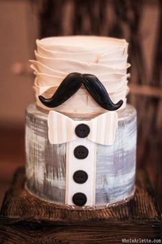 most adorable masculine cake