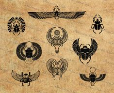 Digital SVG PNG mythical creature of ancient Egypt god and Egyptian Beetle, Egyptian Scarab, Egyptian Symbols, Ancient Egyptian Art, Ancient Aliens, Ancient Greece, Egyptian Anubis, Egyptian Eye, Mayan Symbols