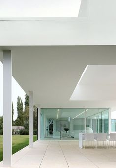 The Villa T in Belgium designed by Beel & Achtergael Architects, spacious with minimalistic design _