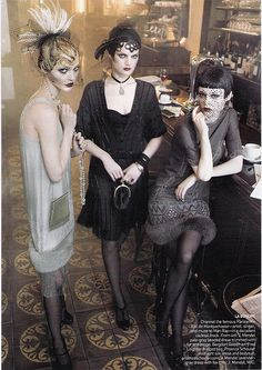 zombie flappers (or for BW costume)