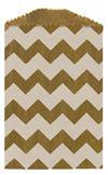 White/ Kraft Chevron Mini Paper Bag (2 3/4 x 4 Inch) 25/Pk