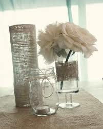 vintage wedding centerpieces in jars - Google Search