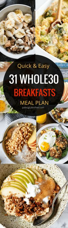 Best whole30 breakfast recipes all in one place. 31 days of whole30 breakfast recipes! Whole30 meal plan that's quick and healthy! Whole30 recipes just for you. Whole30 meal planning. Whole30 meal prep. Healthy paleo meals. Healthy Whole30 recipes. Easy W paleo diet plan