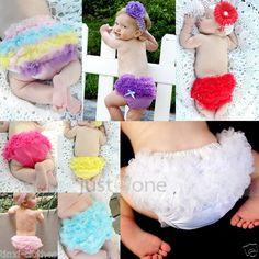 Sweet Baby Girls Ruffle Panties Briefs Bloomer Diaper Cover f Pettiskirt S 6-24M {ebay}