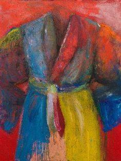 Jim Dine - Gin From Our Still, acrylic, sand and charcoal on canvas, http://novakart.com/artists/jim-dine/
