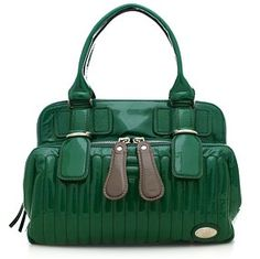 Chloe Bay Green Patent Bag