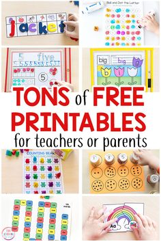 Tons of free printable activities for preschool, kindergarten and early elementary! Math printables, literacy printables, alphabet printables, science printables and more! printables for kids education Free Printable Activities for Kids Printable Activities For Kids, Preschool Learning Activities, Free Preschool, Preschool Printables, Fun Learning, Preschool Kindergarten, Preschool Curriculum Free, Free Alphabet Printables, Alphabet Activities