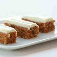 Cream Cheese Frosted Zucchini Carrot Bars