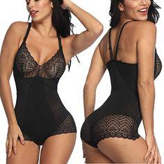 bbee51ea04d SELUXU Women Lace Shapewear Bodysuit Lingerie Slimming Body Briefer