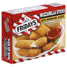 tgif frozen monzzerela | TGI Fridays Mozzarella Sticks, with Marinara Sauce - Frozen Foods ...