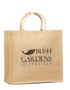 Jute Shopping Tote With Cotton Webbed Handles #JuteJungle