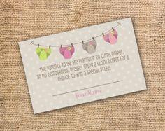cloth diaper invitation