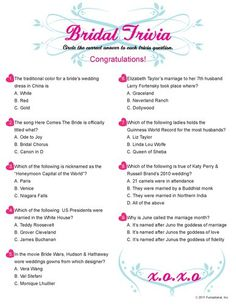 fun bridal shower printable games maybe switch up some of the questions