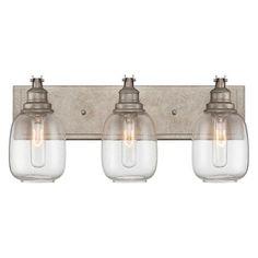 Kichler lighting barrington 3 light anvil iron and driftwood industrial steel bath light 3 light aloadofball Images