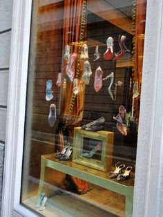 window display shoes