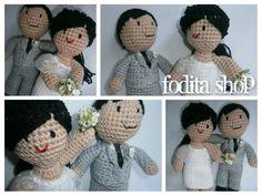 los novios!  #crochet #wedding