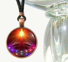"Chakra Necklace, Yoga Jewelry, Reiki Energy Art Pendant ""The Protector"" Purple Jewelry, Eye Jewelry, Yoga Jewelry, Unique Jewelry, Jewlery, Spiritual Jewelry, Chakra Necklace, Chakra Jewelry, Pendant Necklace"