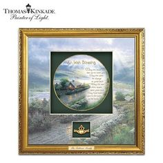 "Thomas Kinkade An Irish Blessing Personalized Shadowbox Plate by Bradford Exchange. $89.99. Satisfaction Guaranteed: Free Returns for 365 Days. Cherish the beauty of Ireland and its rich heritage with the Thomas Kinkade An Irish Blessing Personalized Shadowbox Plate, available only from The Bradford Exchange. Measures 13-1/2"" W x 13-1/2"" L; 34.3 cm W x 34.3 cm L. 14 different handcrafting processes bring together Thomas Kinkade's ""Emerald Isle Cottage"" artwork and the belov..."