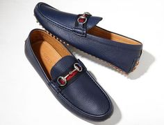 Navy Blue Driving Shoe for Men