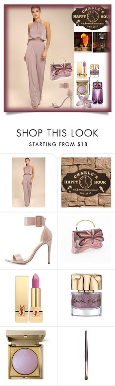 """Happy Hour"" by karenxxander ❤ liked on Polyvore featuring LULUS, Liliana, Miu Miu, Yves Saint Laurent, Smith & Cult, Stila, Charlotte Tilbury and Thierry Mugler"