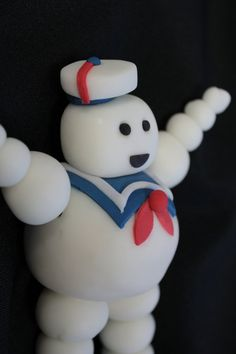 Edible Fondant Cake toppers  1 MARSHMALLOW man