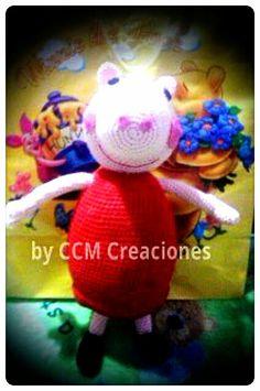 Peppa Pig amigurumi, 48 cms.Realizada por pedido. www.facebook.com/byccmcreaciones