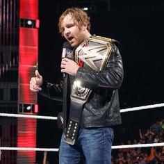 Dean Ambrose celebrates his WWE World Heavyweight Championship victory: photos