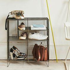 hallway furniture wire shoe storage