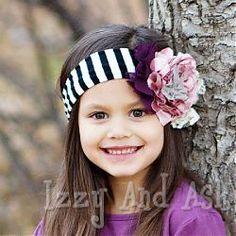 persnickety girls black stripe camilla headband