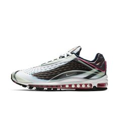 The Nike Air Max Deluxe Men's Shoe features lightweight Max Air cushioning for all-day comfort while a combination construction provides comfortable support. Air Max 1, Nike Air Max, Discount Shoes Online, Orange Fashion, Shoe Game, Comfortable Shoes, Nike Shoes, Sneakers, Homework