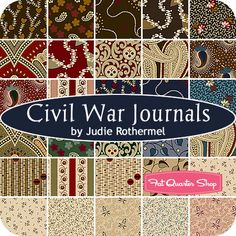 Civil War Journals Fat Quarter Bundle Judie Rothermel for Marcus Brothers Fabrics - Fat Quarter Shop
