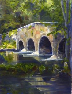 d4d62db7d This original 16x 12 impressionist landscape oil painting captures  reflections of light and the beautiful archways