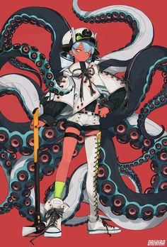 Female Character Design, Character Design References, Character Design Inspiration, Character Concept, Character Art, Concept Art, Anime Kunst, Anime Art, Anime Tentacle