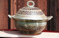 Kitchen Cooking Rustic Casserole  Hand Carved by HappySandman