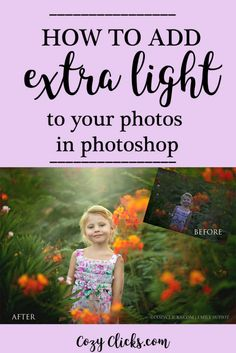 how to add extra light to your photo in Photoshop easy tips