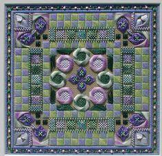 Adorn needlepoint quilt