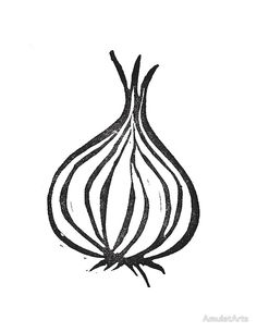 'Onion' by AmuletArts Skin Logo, Farm Logo, Collagraph, Food Illustrations, Laptop Skin, Line Art, How To Draw Hands, Creations, Logo Design