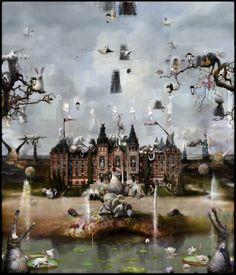 Chris Berens heeft ter gelegenheid van de heropening van het Rijksmuseum een werk vervaardigd, dat Rijksmuseum heet. Afmetingen: 140 x 120 cm