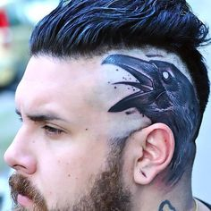 Crow Head Tattoo Idea