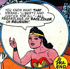 I was one of those odd little boys who liked Wonder Woman just as much as Superman, Batman and the Flash... but then I've always prefered women