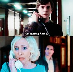 "Freddie Highmore as Norman and Vera Farmiga as Norma in ""Bates Motel"""