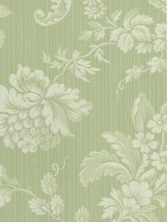 Floral Damask and Stripes Sidewall - HC90104 from Victoria Lane book