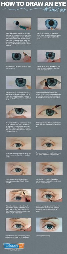 How to Draw a Realistic Eye with Colored Pencils:                                                                                                                                                                                 More