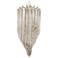 Vintage Murano Chandeliers | Vintage Crystal Murano Chandelier by Venini