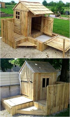 Patio is a great place to create an idea which can be used as the kids playhouse or decorating a bar type room for drinking with friends. So, here is an idea for creating a patio garden cabin with the windows for fresh air.