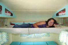 Some trailers had hammocks instead of bunks